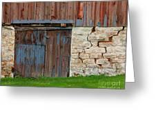 Weathered Barn Door Greeting Card