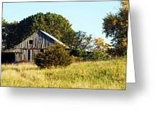 Weathered Barn In Fall Greeting Card