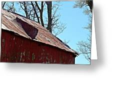 Weathered Barn Roof- Fine Art Greeting Card
