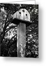 Weathered Bird House Greeting Card