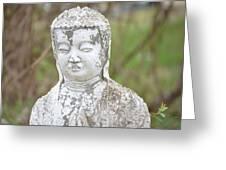 Weathered Buddha Statue Greeting Card