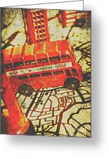 Weathered Bus Routes Greeting Card