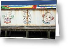Weathered Clowns Greeting Card