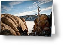 Weathered - Pathfinder Reservoir - Wyoming Greeting Card