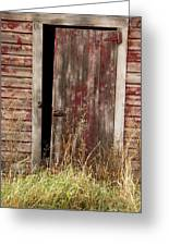 Weathered Entrance Greeting Card