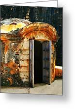 Weathered Entry Greeting Card