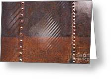 Weathered Metal Rivets Greeting Card