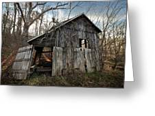 Weathered Old Abandoned Barn Greeting Card
