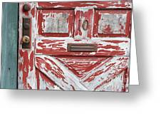 Weathered Red Door 1 Greeting Card