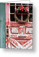 Weathered Red Door 3 Greeting Card