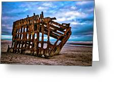 Weathered Shipwreck Greeting Card