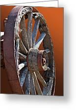 Weathered Wagon Wheel  Greeting Card