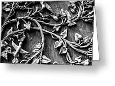 Weathered Wall Art In Black And White Greeting Card