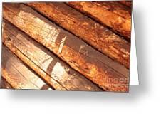 Weathered Wood Log Cabin Greeting Card