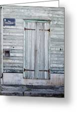 Weathered Wooden Door In France Greeting Card