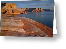 Weathering Pit Ridge Sunset Greeting Card