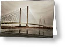 Weathering Weather At The Indian River Inlet Bridge Greeting Card