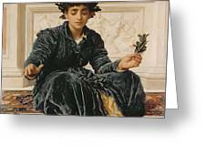 Weaving The Wreath Greeting Card