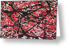 Web Of Fire Greeting Card