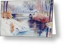 Weber River Bridge Greeting Card