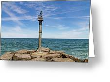 Webster Jetty Light Greeting Card