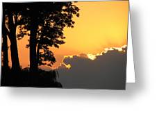 Webster Ny Sunset Greeting Card