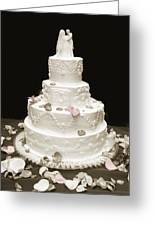 Wedding Cake Petals Greeting Card