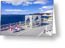Wedding On The Greek Isles Greeting Card
