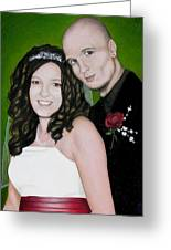 Wedding Portrait Of Clint And Ashley Greeting Card