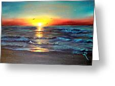 Wedding Sunrise On Indian Harbour Beach Florida Greeting Card