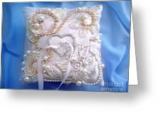 Weding Ring Pillow. Ameynra Design Greeting Card