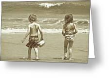 Wee Beachcombers Greeting Card