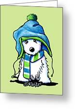 Wee Winter Westie Greeting Card
