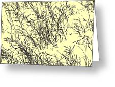 Weeds In Snow Greeting Card