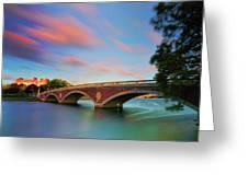 Weeks' Bridge Greeting Card by Rick Berk
