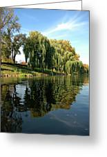 Weepin Willows Frankenmuth Cass River Greeting Card