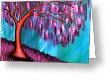 Weeping Willow II Greeting Card by Brenda Higginson