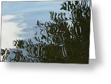 Weeping Willow Reflection Greeting Card