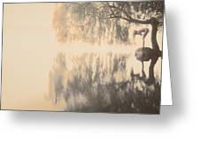 Weeping Willow Woman Greeting Card