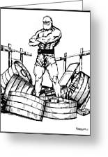 Weight Lifter Greeting Card