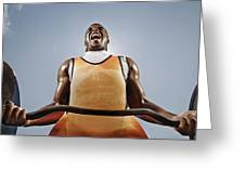 Weightlifting Greeting Card