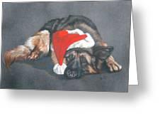 Weihnachtshund Greeting Card