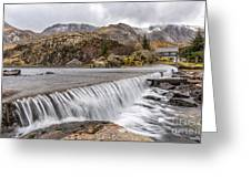 Weirs Rapids Snowdonia Greeting Card