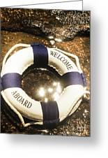 Welcome Aboard Nautical Paradise Greeting Card