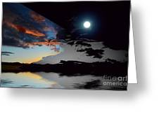 Welcome Beach Day And Night 2 Greeting Card
