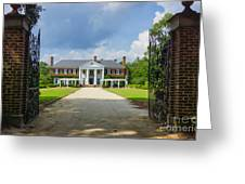 Welcome To Boone Hall Greeting Card