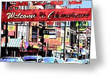 Welcome To Chinatown Sign Red Greeting Card