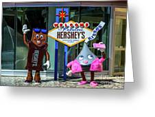 Welcome To Fabulous Hersheys Sign Greeting Card