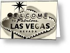 Welcome To Fabulous Las Vegas Nevada Greeting Card by Leslie Leda