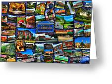 Welcome To Harrison Arkansas Greeting Card by Kathy Tarochione